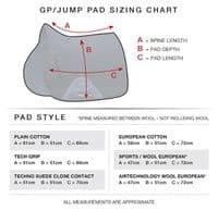 Full Size Embroidered Premier Equine Plain Close Contact Cotton GP/ Jump Saddle Pad